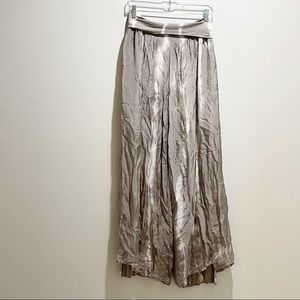 GREY VIOLET Women's Taupe Tie Dye Lined Silk Pants